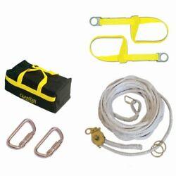Guardian Fall Protection 04628 Polyester Horizontal Lifeline System With Tens...