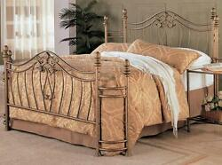 Sydney Antique Brushed Gold Queen Size Bed with Bed Frame by Coaster 300171Q