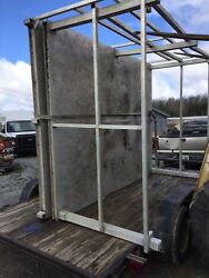 10' X 12' Aluminum Plate Boat Dock, Patio Deck With Rails Gov. Issue Well Built