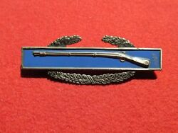 Us Army Combat Infantry Badge , Clutch Back Sterling Full Size