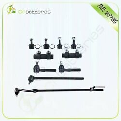 10pcs Steering Kit Ball Joints Tie Rod Ends For 1987-1995 1996 Ford F-150 4wd