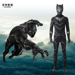 Hzym Captain America Civil War Black Panther Tand039challa Cosplay Costume Full Suit