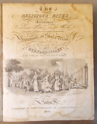Antique Leather Religious Ceremonies And Customs Of Every Nation Picart And Huish