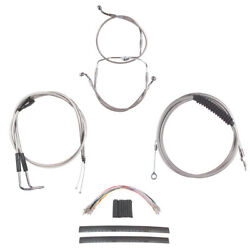 Stainless Cable And Brake Line Cmpt Kit 22 Apes 2007 Harley Touring W/cruise