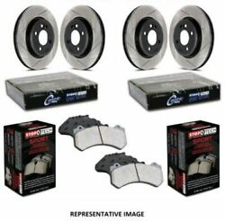 Stoptech Sport Axle Pack Brake Kit Slotted 4 Wheel - 977.46001