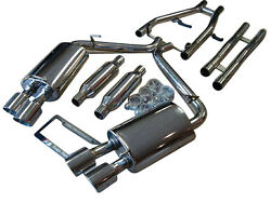 Jaguar Xf Sedan 3.0l Na And Supercharged 09-13 Dual Exhaust Systems With H Pipe