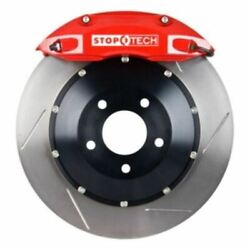 Stoptech Big Brake Kit Black Caliper Slotted Two-piece Rotor Rear