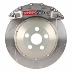 Stoptech Trophy Sport Big Brake Kit; Silver Caliper Slotted Two PC Rotor Front