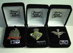Disney 3 Pins Oand039pin House Haunted Mansion Marcasite Sterling Silver Le 50 Rare