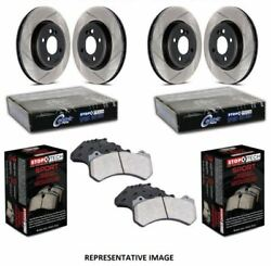 Stoptech Sport Axle Pack Brake Kit Slotted 4 Wheel - 977.42002