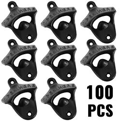 100 Quality Rustic Open Here Beer Bottle Opener Cast Iron Wall Mounted Works
