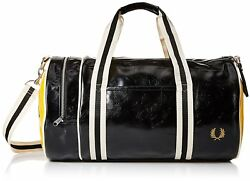 Fred Perry Mens Classic Barrel Bag BlackYellow One Size