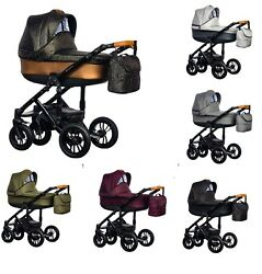 Paradise Baby Magnetico Pram Stylish Frame With Carrycot 2019 Edition + Car Seat