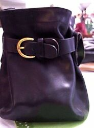 Coach  Mini Bucket Bag Black Purse authentic numbered