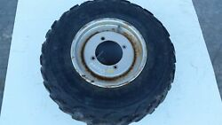1994 Suzuki King Quad 300 4x4 Front Steel Wheel Tire Needs Replaced Rust And Wear