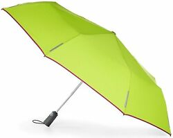 Totes Micro Mini Umbrella with 38-inch Coverage Lime with Trim