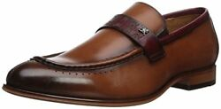 Stacy Adams Menand039s Sussex Moc-toe Penny Loafer Cognac Multi Leather 25179-229
