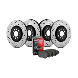 For Mazda Protege 95-98 StopTech 936.45021 Street Drilled Front & Rear Brake Kit