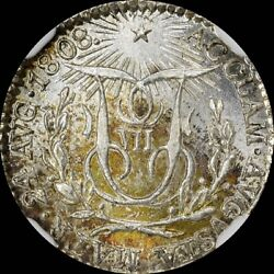 Finest @ Pcgs And Ngc Ms66 1808 Ferdinand Vii Proclamation Silver Medal Herrera-4