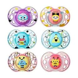 Baby Feeding Count 2 Tommee Tippee Closer To Nature Fun Pacifier 6-18 Months Col