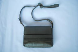 Clare V. Petit Lou grey leather evening bag crossbody clutch SOLD OUT