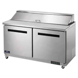 Arctic Air Ast60r 60 2 Door Refrigerated Sandwich Prep Table   16 1/6 Pans