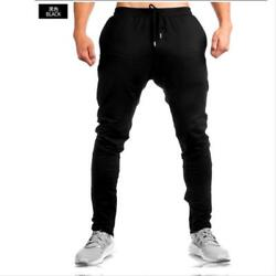 Male Pants Casual Sports Fashion High Street Big Man Fabric Scottish Full Length