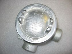 Crouse-hinds Eabl16 Explosion Proof Mall. Iron Conduit Outlet Box 1/2 Threaded