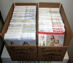Simplicity Vintage 1940's Series Reissued Sewing Patterns Sizes 6-28w Upick