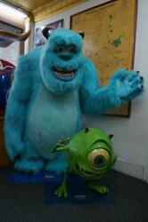 2001 PIXAR ANIMATION MONSTERS INC MIKE & SULLY LIFE SIZE STORE DISPLAY DISNEY