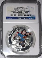 2015 Canada S20 Action Comics 1 Colorized Early Releases Pf70 Uc W/box Coa