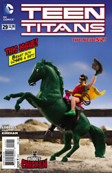 Teen Titans 29 Variant Robot Chicken New 52 2014 Dc 1st Print Near Mint To Nm+