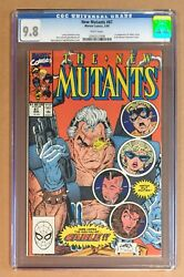 New Mutants 87 • Cgc 9.8 • 1st App Cable • White Pages 1991 Marvel Comics