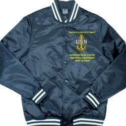 Naval Medical Center San Diego-ca Navy Embroidered 1-sided Satin Jacket