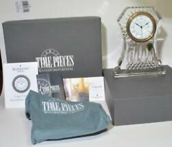 Nib Waterford Crystal Time Pieces Lismore Large Clock Box,papers,made Ireland