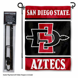 San Diego State Aztecs Garden Flag And Yard Stand Included