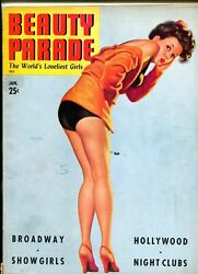 Beauty Parade Magazine January 1943- Great Steffa Cover- Spicy Cheesecake