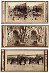 Lot Of Three Stereo Cards Naples Sommer And Behles 1860c Stereoviews