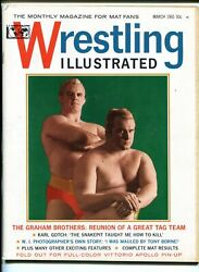 Wrestling Illustrated 3-03/1965-pin-up-graham Brothers-buddy Rogers-rocca-vf