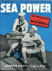 Sea Power Vol. 1 1 October 1941- Japanand039s Navy-southern States Collection-vf