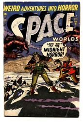 Space Worlds 6 Comic Book 1952-atlas-capt Jet Dixon-only Issue-space Squadron