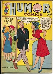 All Humor 12 1948-quality-spicy Good Girl Art-long Overlooked Issue-fn+
