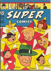 Super 87 1945-dell-dick Tracy-little Orphan Annie-harold Teen-moon Mullins-fn+