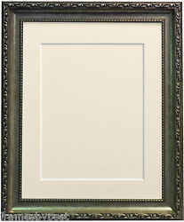 Shabby Chic Ornate Antique Silver Photo Picture Frames And Mount And Backing Board