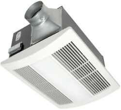 WhisperWarm 110 CFM Ceiling Exhaust Bath Fan with Light and Heater Durable Steel