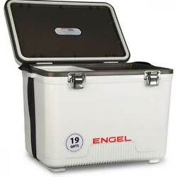 Engel 19 Quart Fishing Live Bait Dry Box Ice Cooler with Shoulder Strap White $59.99