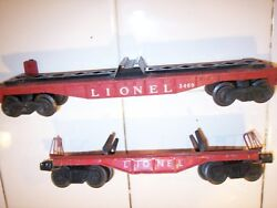 Lionel Flatbed 3460 Freight Car Lot For Parts