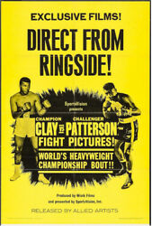 Cassius Clay Muhammad Ali And Floyd Patterson Rare Vintage Boxing Poster