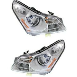 Headlight Set For 2009 Infiniti G37 Sedan Left and Right HID With Bulb 2Pc