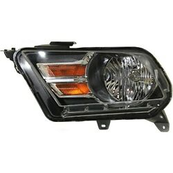 Headlight For 2010-2014 Ford Mustang Left Chrome Housing With Bulb